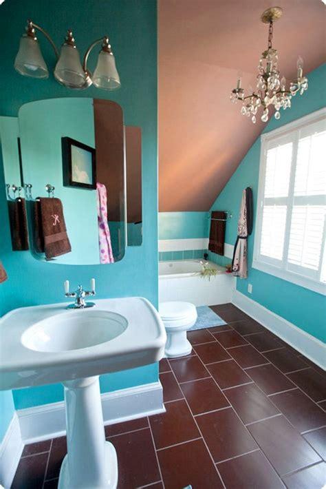 turquoise and brown bathroom sneak peek best of turquoise design sponge