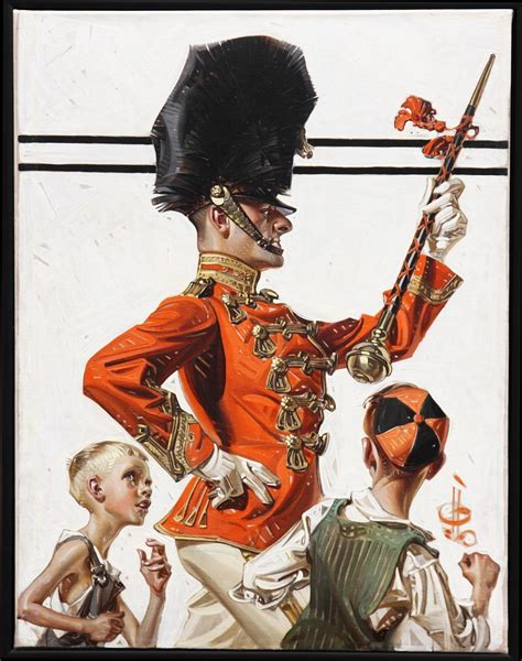 leyen decker joseph christian leyendecker drum major on