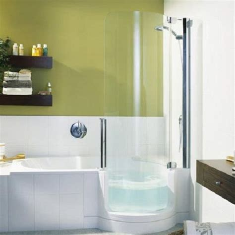 Small Soaking Tub With Shower Small Soaking Tub Shower Combo Concepts Home Decor