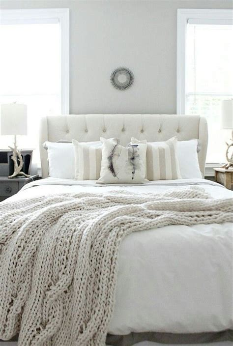 white  cream bedroom guest bedroom makeover neutral