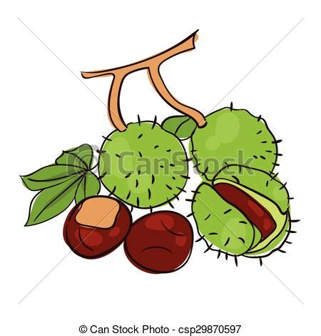 clipart castagne vettori eps di castagne chestnuts set with gradient