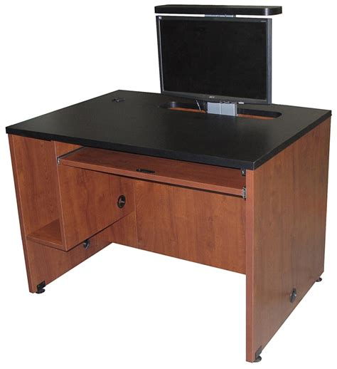 computer desk monitor lift ds 4230 computer desk with monitor lift exact furniture