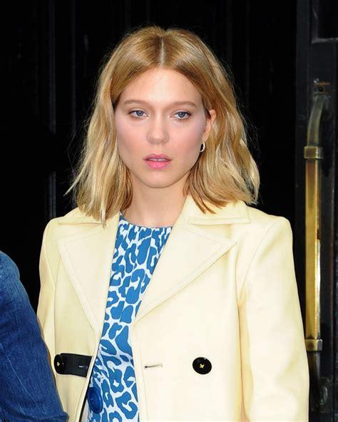 lea seydoux new york usa fashion music news lea seydoux leaves her hotel in