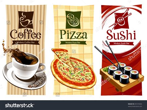 food banner template template designs food banners coffee pizza vectores en
