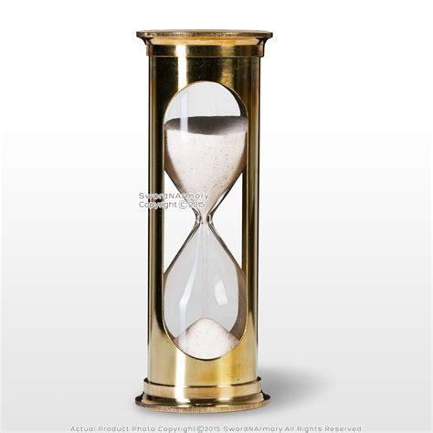 Handmade Hourglass - 6 quot brass handmade 5 min sand timer clock maritime