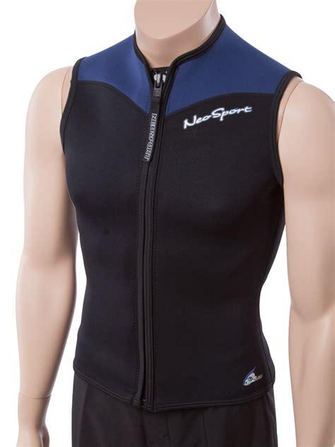 neoprene vest neosport mens 2 5mm neoprene zip front sport vest warm sleeveless swim shirt ebay