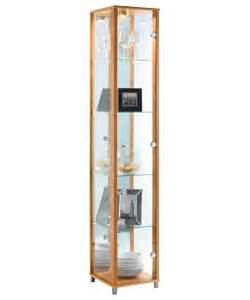 Argos Display Cabinet Beech Buy Single Glass Door Display Cabinet Beech Effect At