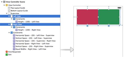 ambiguous layout in xcode ios views are horizontally and vertically ambiguous with