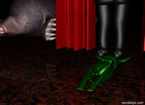 behind the green curtain untitled by torgo on wordseye