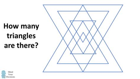 how many triangles are there in this diagram mind your decisions