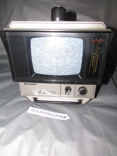vintage sharp sidekick portable tv television