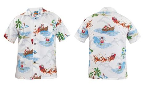 christmas themed clothing uk christmas hawaiian shirts groupon goods