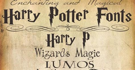magic harry potter font gallery