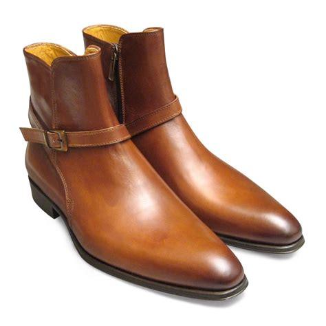 light brown jodhpur boot bird