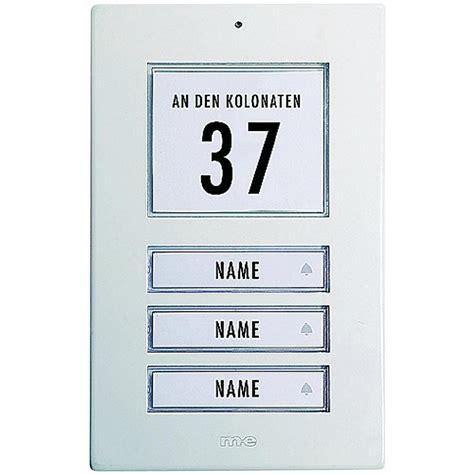 Prix Alarme Maison 6110 by Plaque De Sonnette 3 Prises M E Modern Electronics Kt 3 Aw