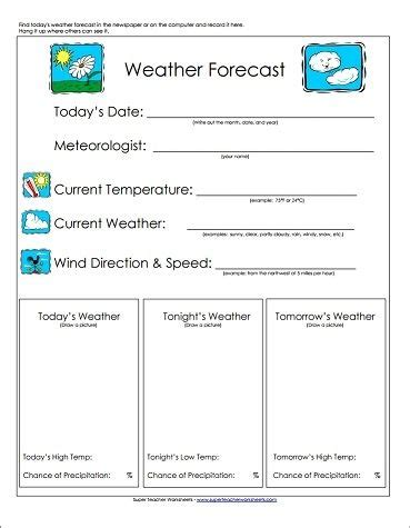take a look our weather forecast worksheet is a great