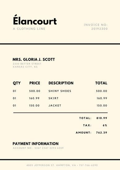 Canva Take Yoru Receipt Template by And Black Simple Invoice Templates By Canva