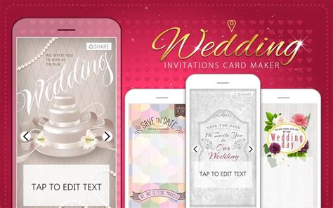 wedding invitation cards editor wedding invitations card maker for android free