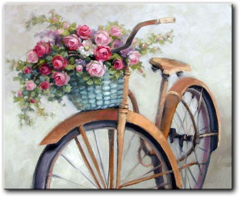 Plakat Castorama by Obraz Rower Retro Z Kwiatami Reprodukcje Na Pł 243 Tnie