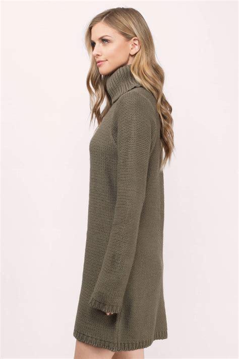 Sweater Dress Ii by Grey Day Dress Grey Dress Turtleneck Dress 23 00