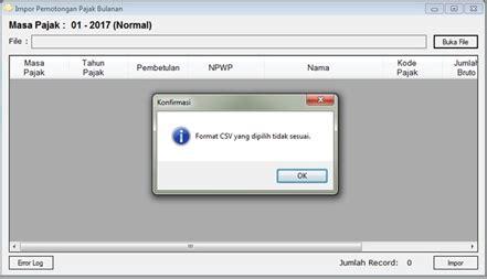 format csv pph 21 kompilasi gagal impor csv ke e spt pph 21 dan solusinya
