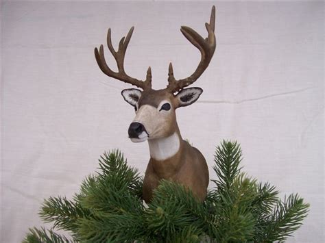 mule deer christmas tree topper