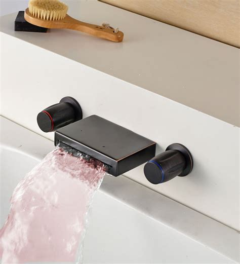 lavelle wall mount waterfall tub faucet bathroom wall mount waterfall tub faucet install waterfall tub