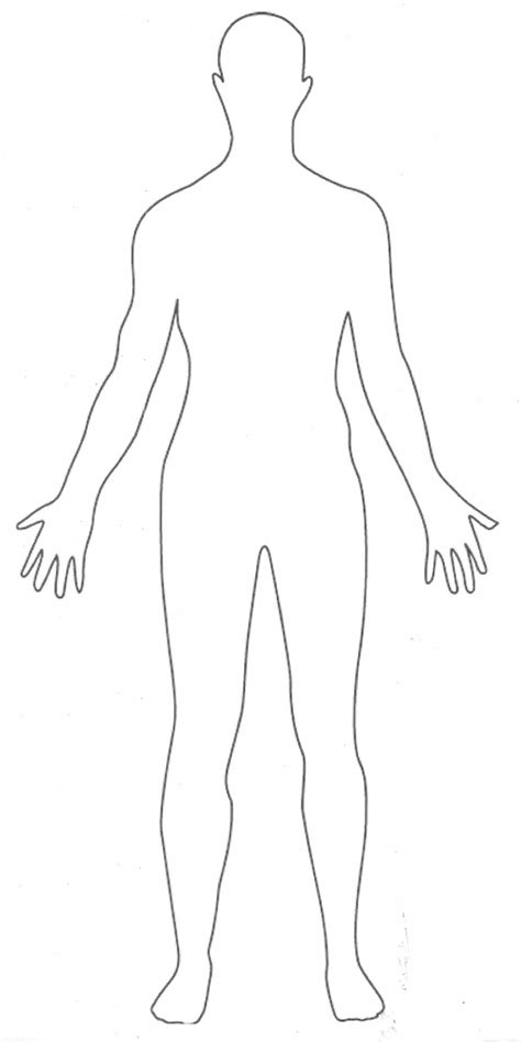 Human Form Outline Free by Human Outline Clipart Clipart For Work