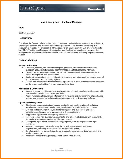position description template requirements template ledger paper