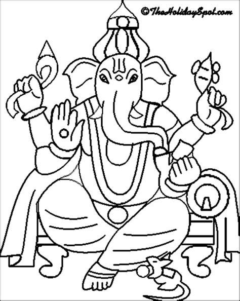 printable ganesh images ganesha free coloring pages