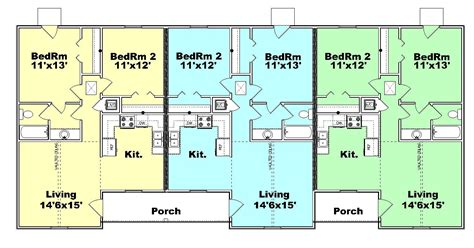 Triplex Floor Plans triplex plan s820 3 plansource inc
