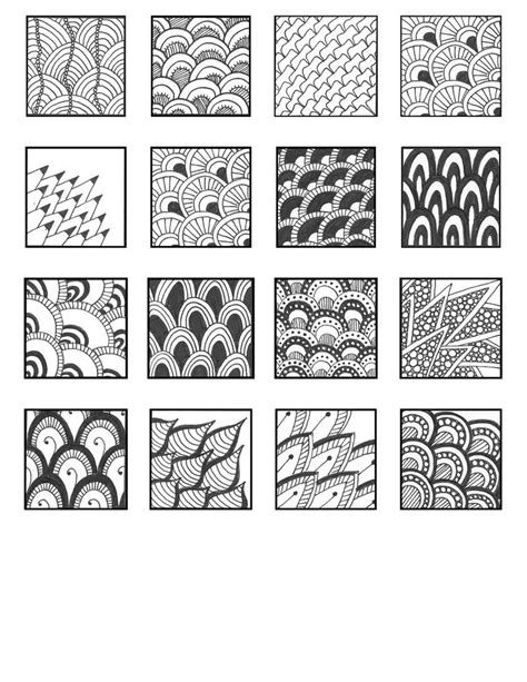 zen of design patterns free download scales style pattern sheets zentangle