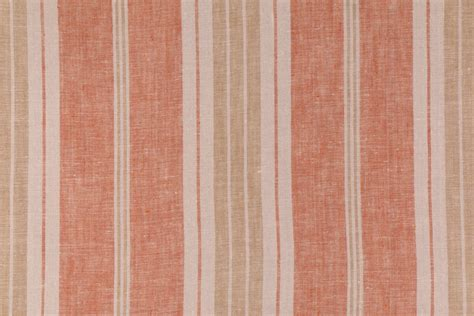 Fergus In Harvest Woven Linen Stripe Drapery Fabric By Bravo