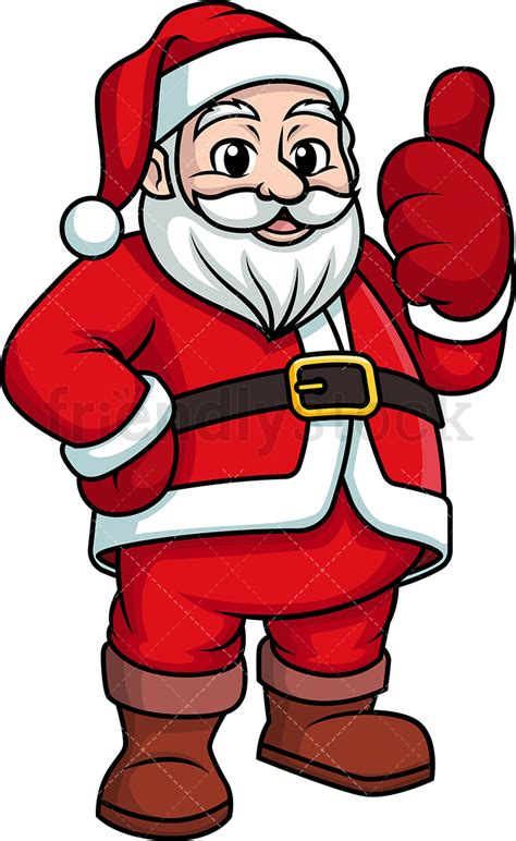 santa claus thumbs up santa claus giving the thumbs up clipart vector friendlystock