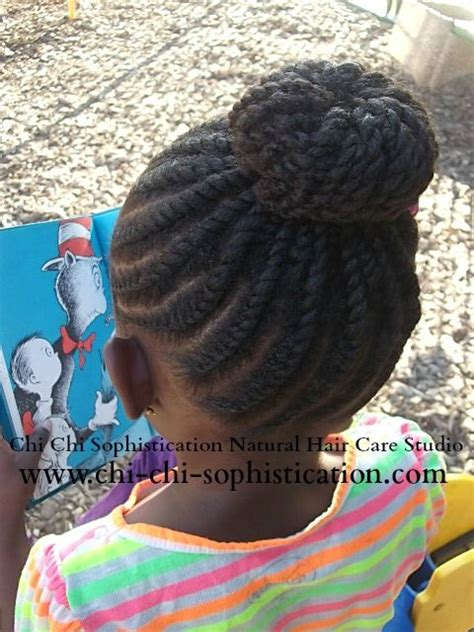 cornrows with doughnut wivon at top 245 best images about children hair styles by chi chi