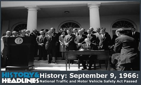 motor vehicle safety act history september 9 1966 national traffic and motor
