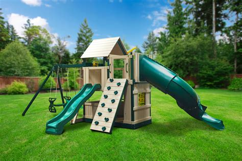 in house swing sets congo explorer tree house climber swing set