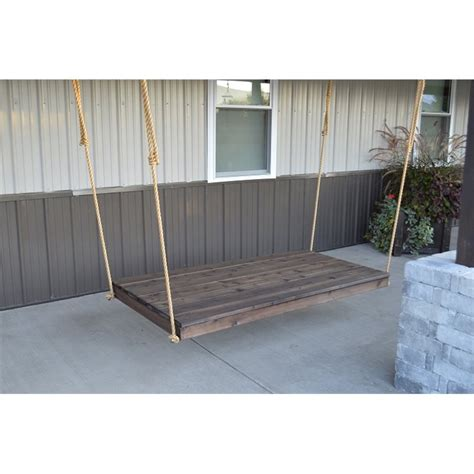 twin bed swing cedar 75 quot twin size bed swing