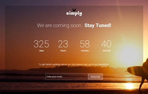 bootstrap themes coming soon free simply bootstrap coming soon template webthemez