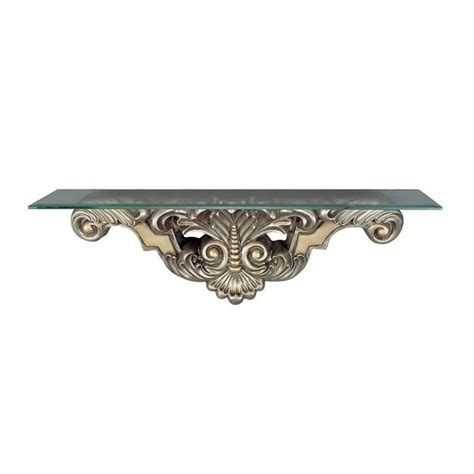 konsole wand cal lighting wall mount console table in antique silver