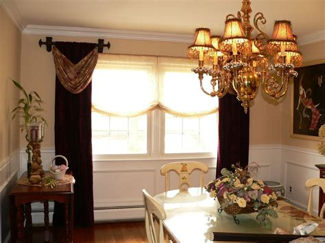 Custom Made Window Treatments Custom Made Open Swags And Panel Window Treatments By Caty
