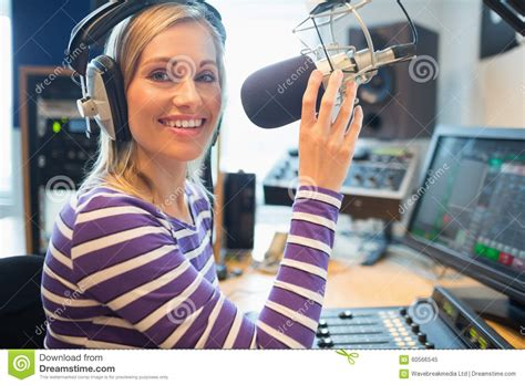 Studio Technician by Happy Radio Host Broadcasting In Studio Stock Photo Image 60566545
