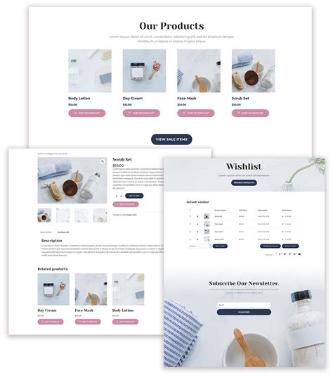 product layout plugin how to add product wishlists to divi s cosmetics shop