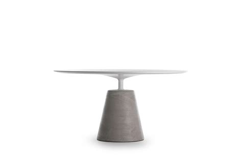 rock table round shaped tables also for the outdoor mdf italia