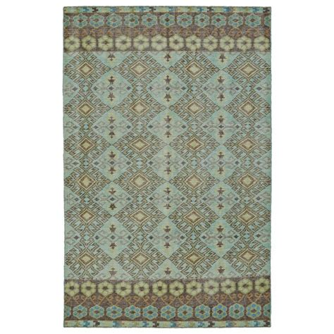 southwestern throw rugs shop kaleen relic turquoise rectangular indoor handcrafted southwestern throw rug common 2 x 3