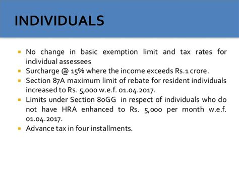 hra comes under which section of income tax budget 2016 2017 analysis of direct tax proposals