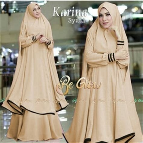 Gamis Abaya Syari Ineke Bergo setelan baju gamis syari jilbab bergo panjang model terbaru