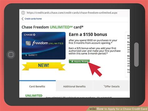 apply   chase credit card  steps  pictures