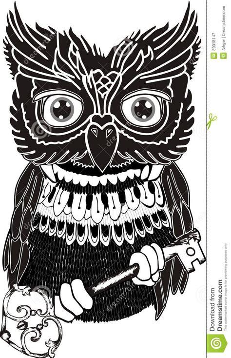imagenes de buhos en blanco y negro b 250 ho blanco y negro simple stock de ilustraci 243 n imagen
