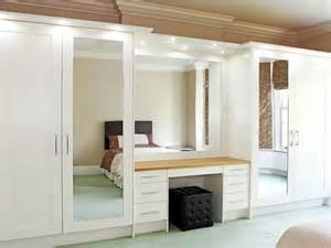 fitted mirror wardrobe for bedroom storage design